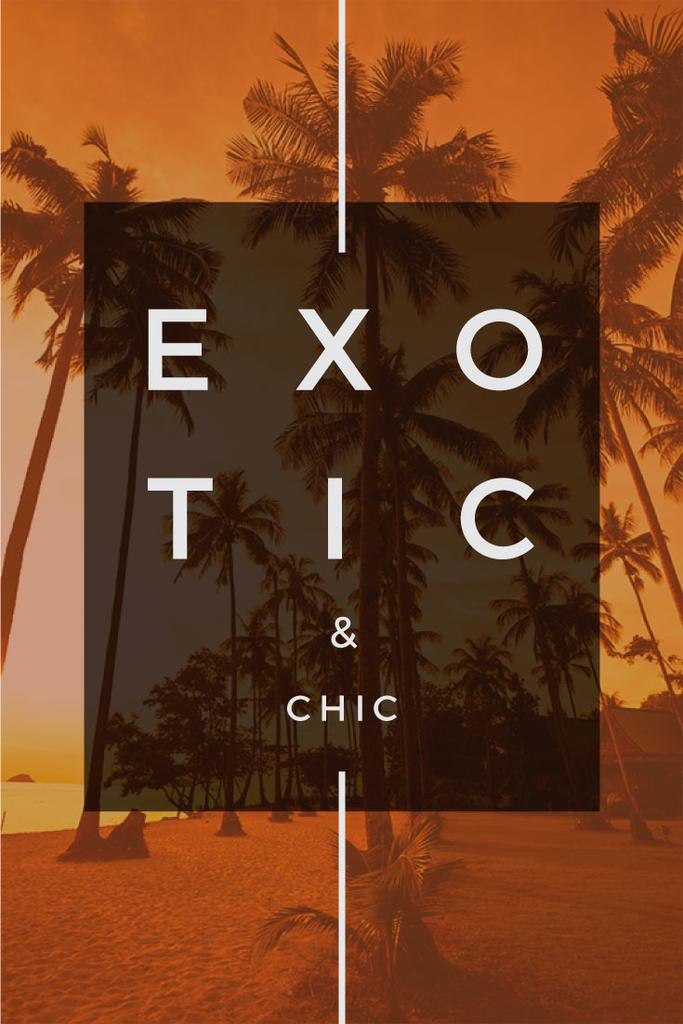 exotic tropical resort poster — Create a Design