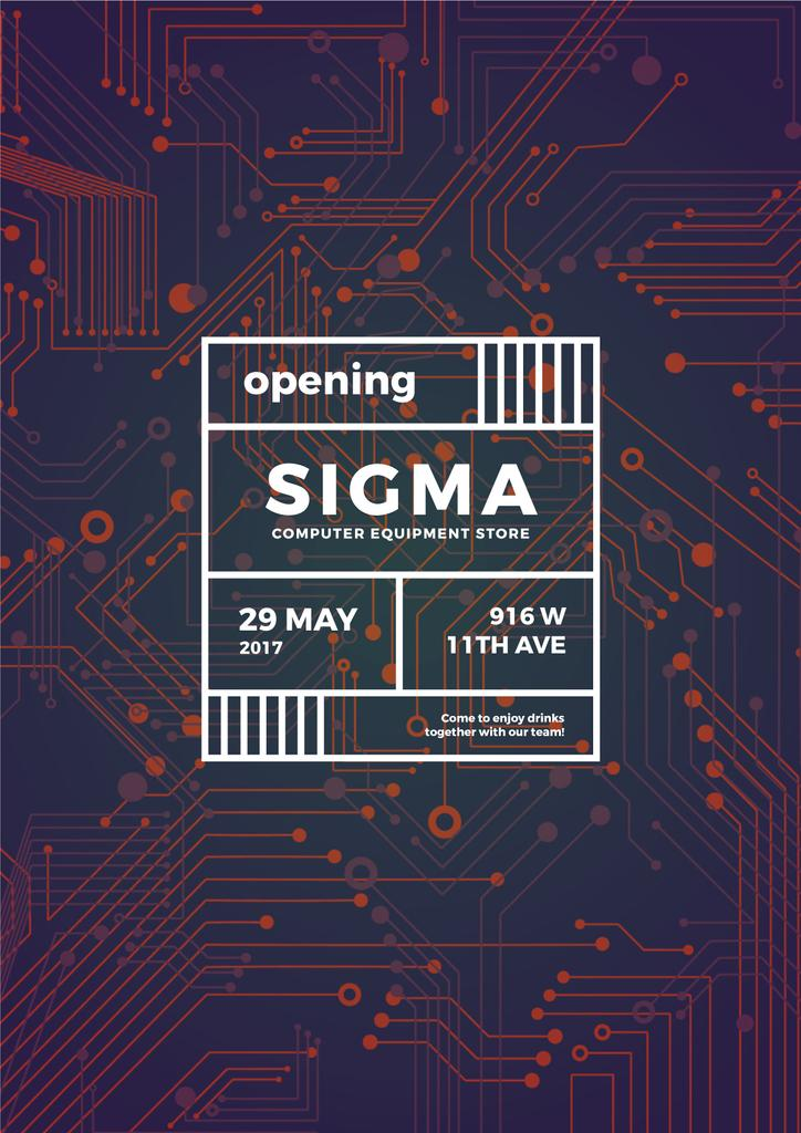Opening banner for computer equipment store — Maak een ontwerp
