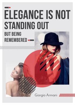 Elegance Quote Attractive and Stylish Women | Flyer Template