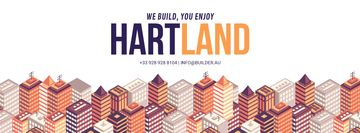 Real Estate Ad with Modern Buildings | Facebook Cover Template