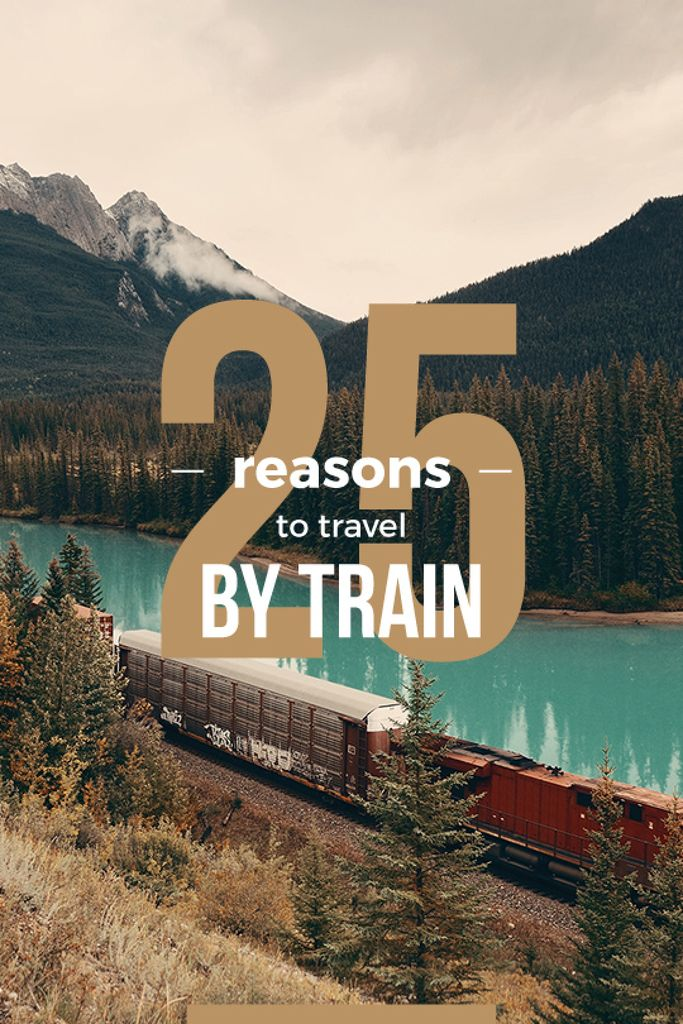 Travelling by Train Railways in Nature Landscape — Modelo de projeto
