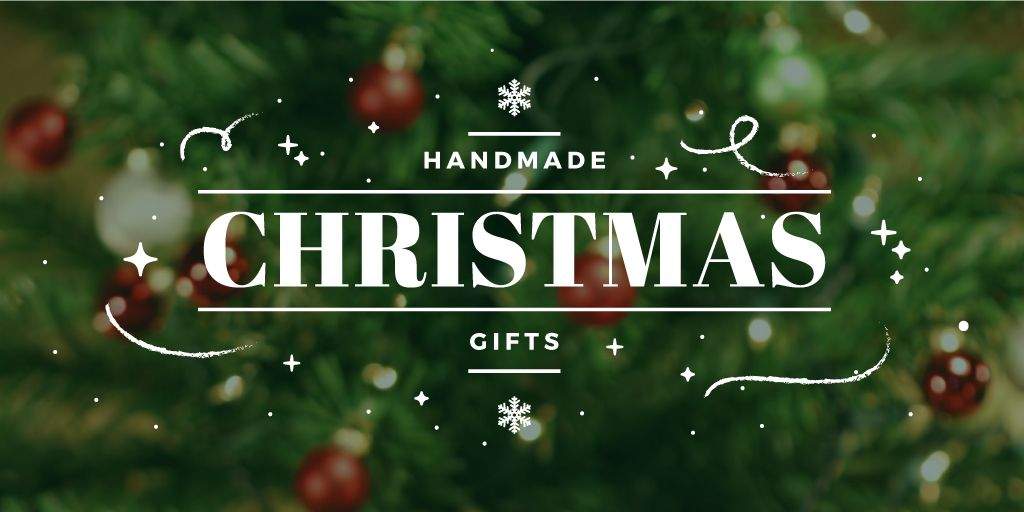 Christmas Gifts Ideas Decorated Tree | Twitter Post Template — Créer un visuel