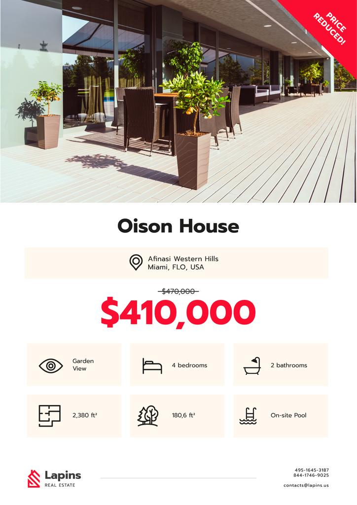 Real Estate Ad Modern House Facade — Створити дизайн