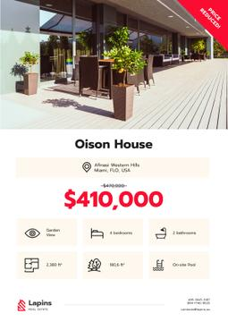 Real Estate Ad Modern House Facade