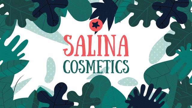 Designvorlage Natural Cosmetics Ad Green Leaves Frame für Full HD video