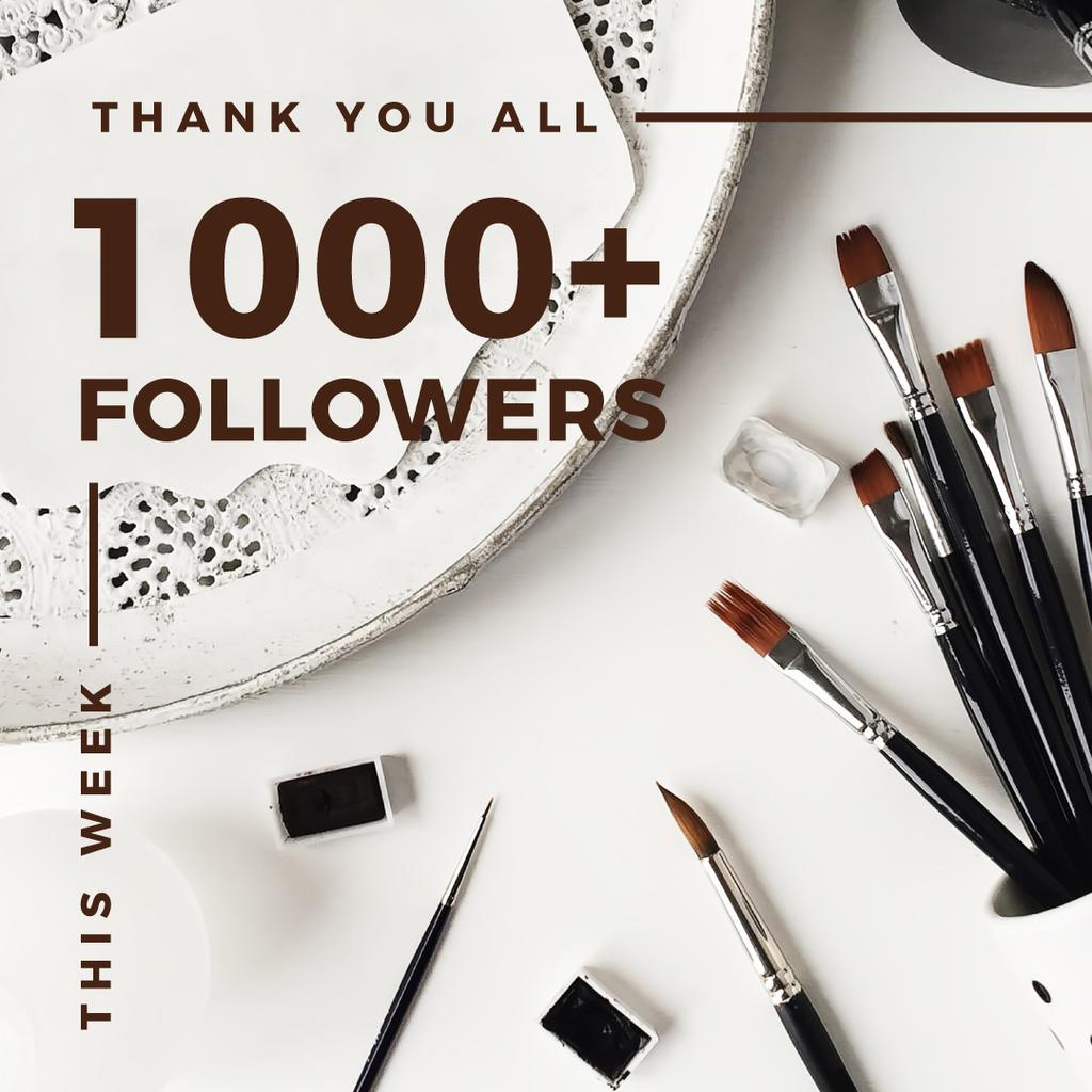 1000 followers poster for beauty blog — Create a Design