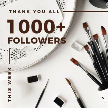 1000 followers poster for beauty blog
