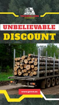 Transportation Services Offer Truck Delivering Logs