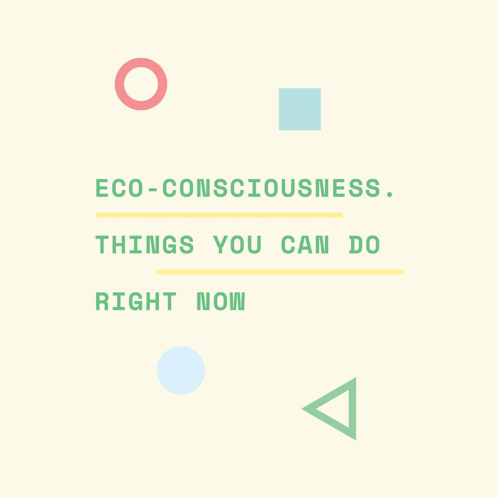 Eco-consciousness concept with simple icons — Maak een ontwerp