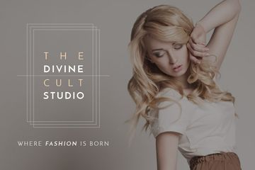Beauty Studio Woman with Blonde Hair | Gift Certificate Template