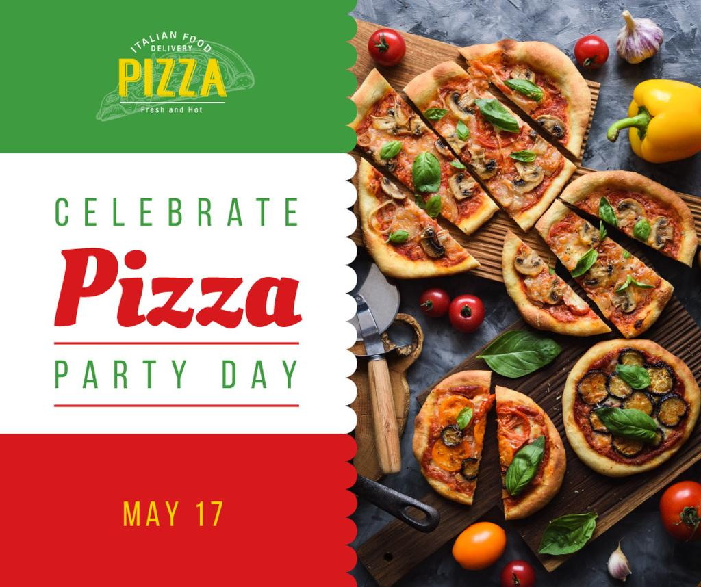 Pizza Party Day tasty slices — Crea un design