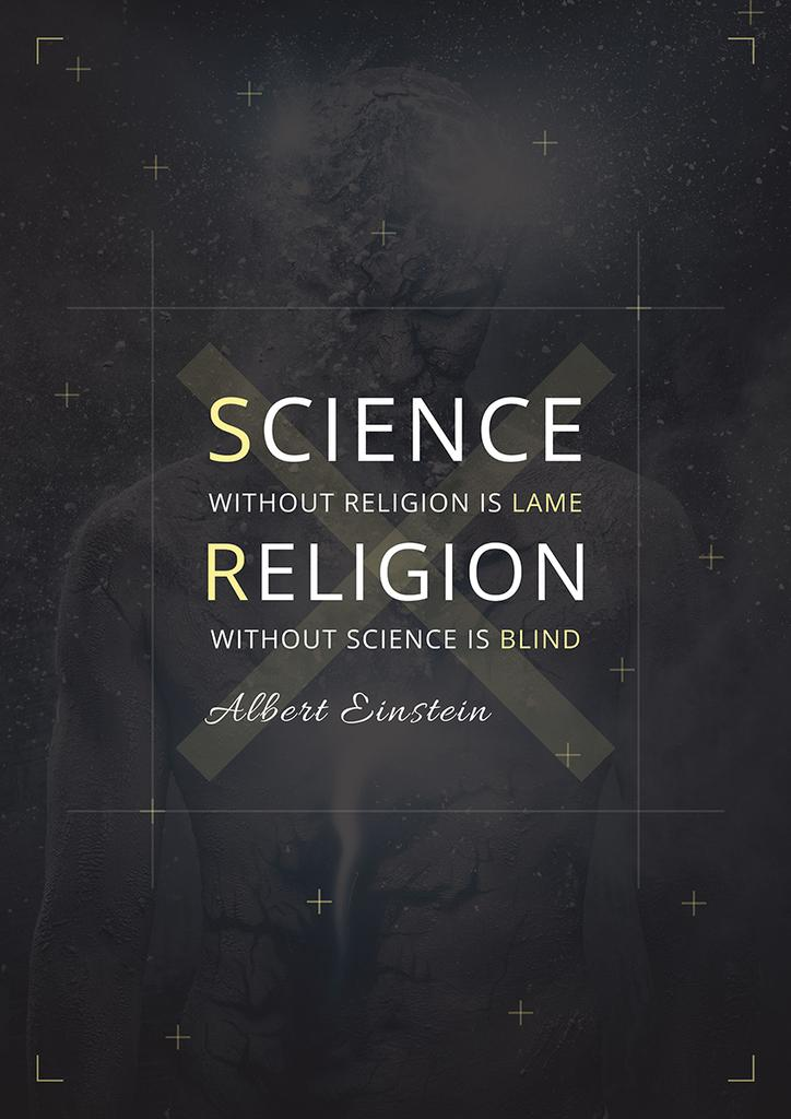 Citation about science and religion — Створити дизайн