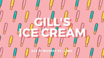 Ice Cream Ad Colorful Sweet Popsicle