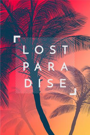 Template di design Lost paradise with Palms on Sunset Pinterest