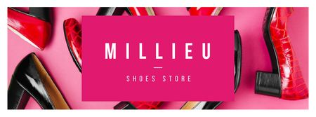 Plantilla de diseño de Female fashionable shoes store Facebook cover