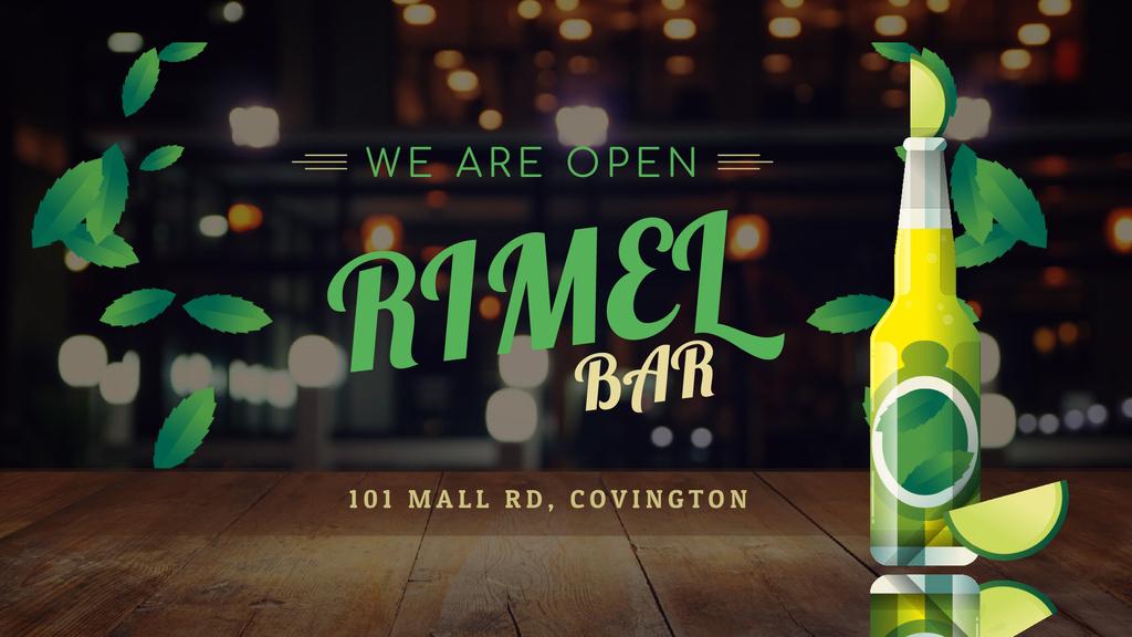 Bar Ad Beer Bottle with Lime — Modelo de projeto