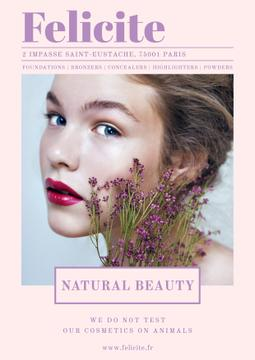 Natural cosmetics advertisement