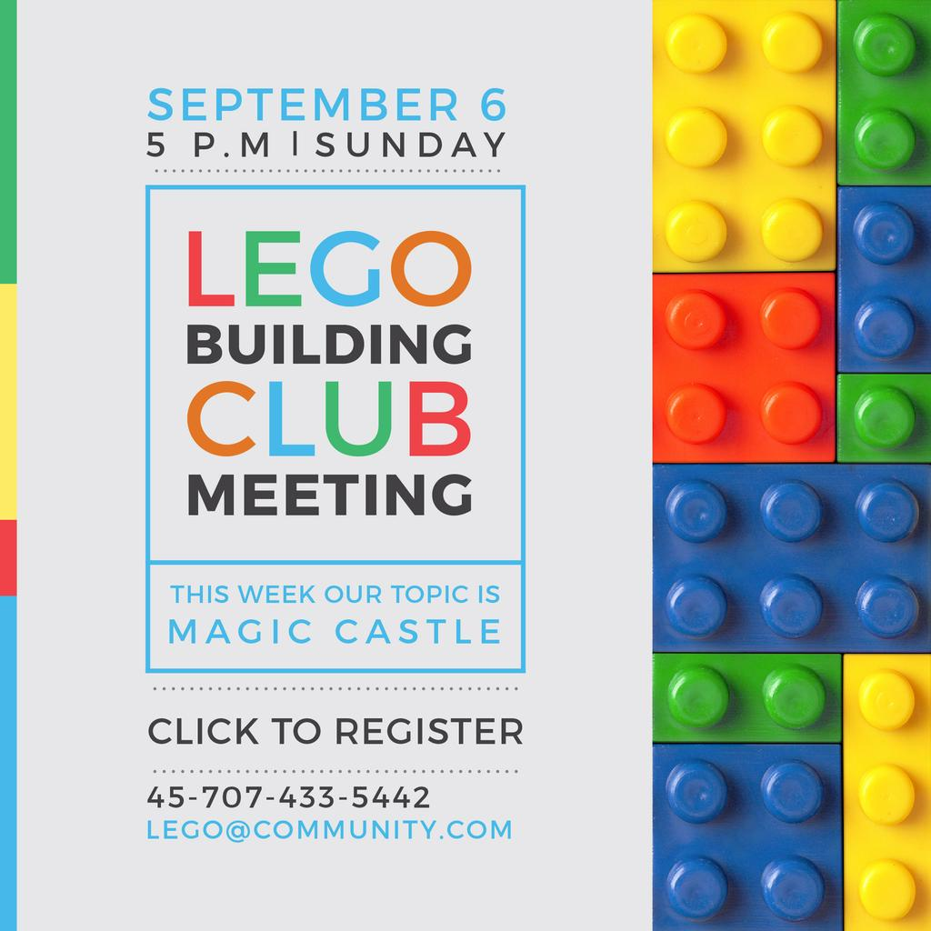 Lego Building Club meeting Constructor Bricks — Créer un visuel