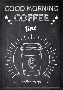 Good morning coffee chalk poster