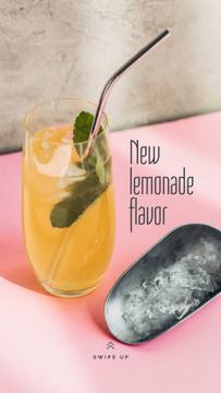 Sweet Lemonade with mint