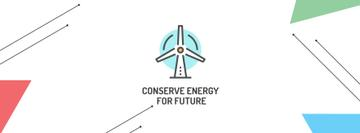 Conserve Energy Wind Turbine Icon | Facebook Cover Template