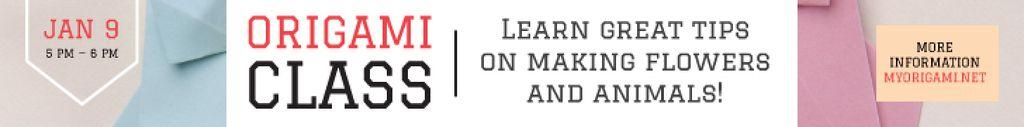 Origami Classes Invitation Paper Garland | Leaderboard Template — Crea un design