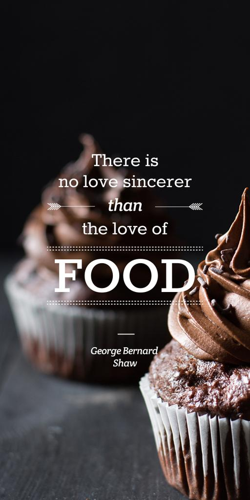 Delicious chocolate muffins with quote — Créer un visuel