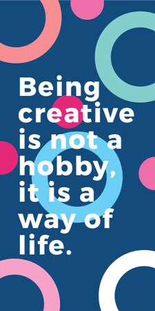 Plantilla de diseño de Creativity Quote on Colorful circles pattern Graphic