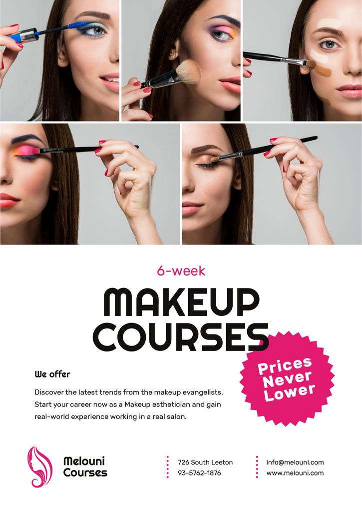 Beauty Courses Beautician Applying Makeup — ein Design erstellen