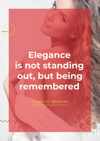 Plantilla de diseño de Citation about Elegance with Attractive Blonde Poster