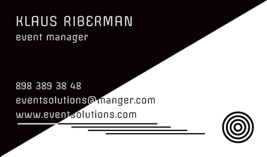 Event planner business card template — Create a Design