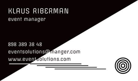 Ontwerpsjabloon van Business card van Event planner Contacts Information