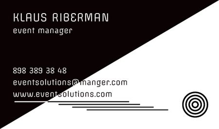 Event planner Contacts Information Business card Modelo de Design