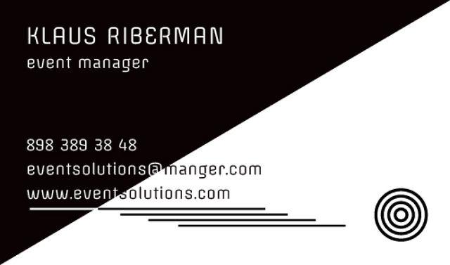 Ontwerpsjabloon van Business card van Event planner Contacts Information