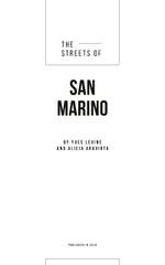 San Marino Narrow City Street