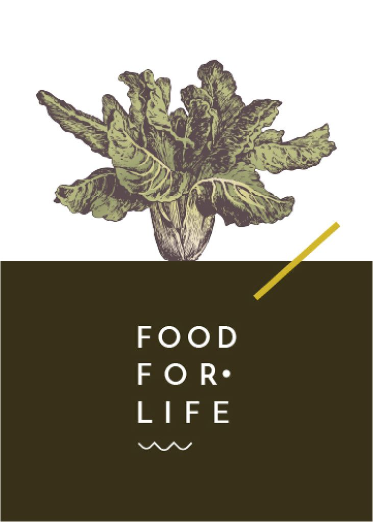 food for life poster with cabbage — Crear un diseño