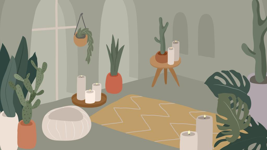 Cozy room Interior illustration — Crea un design