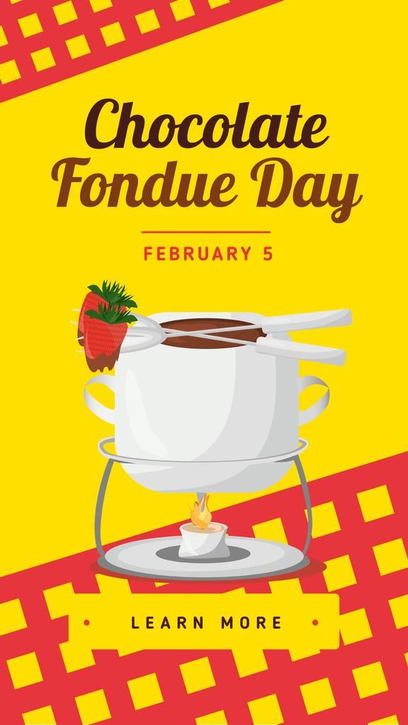 Hot chocolate fondue Day — Crear un diseño