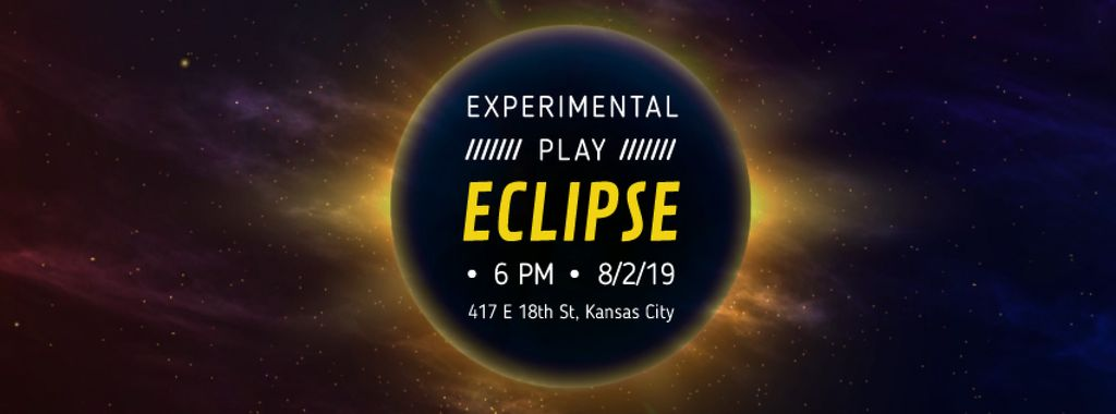 Solar eclipse in space — Crear un diseño