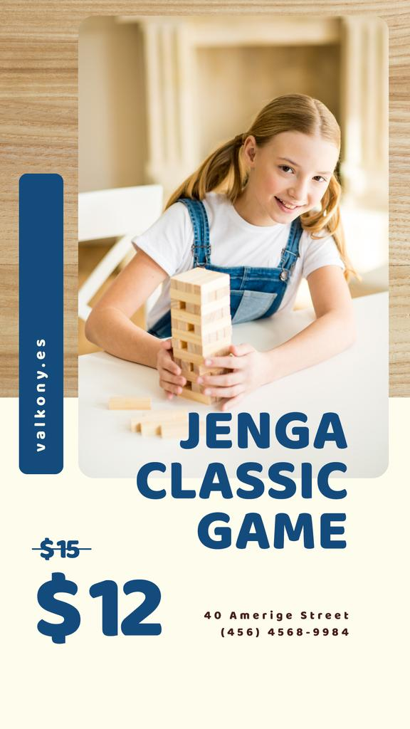 Kids Toys Offer Girl Playing Blocks Game   Stories Template — Crea un design