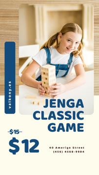 Kids Toys Offer Girl Playing Blocks Game