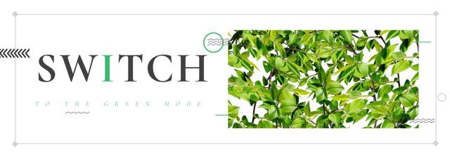 Plantilla de diseño de Eco Light Bulb with Leaves Tumblr