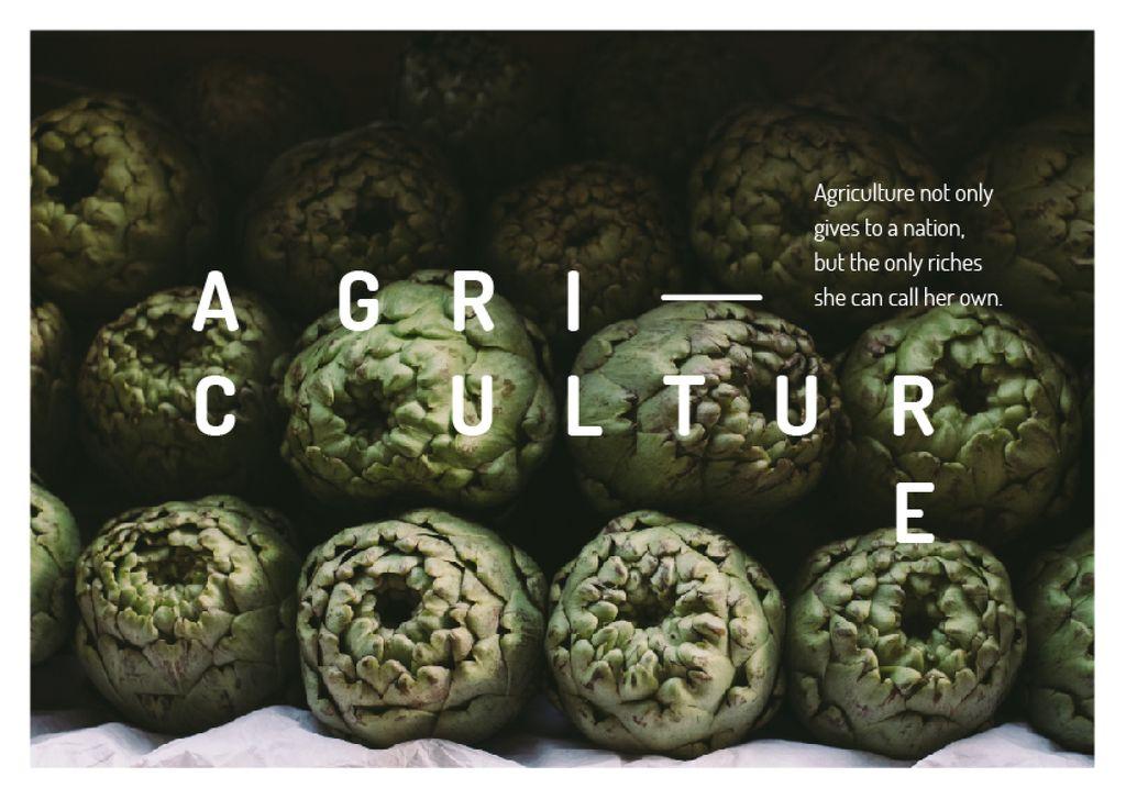 Template di design Bunch of green artichokes Postcard