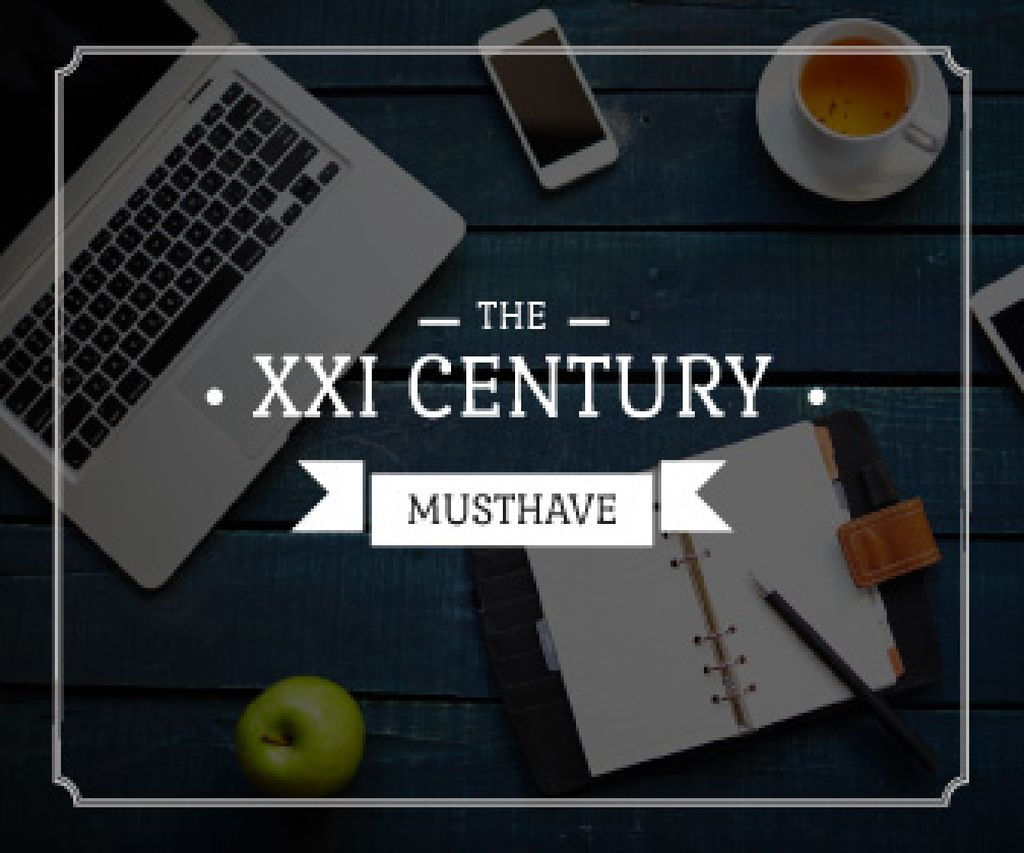the 21st century must have poster with modern devices — Створити дизайн