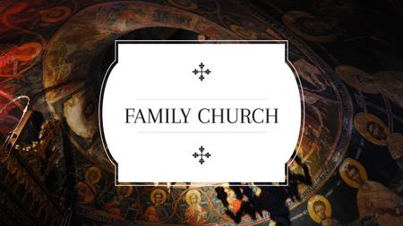Template di design Family church with Religious Wallpaintings Youtube