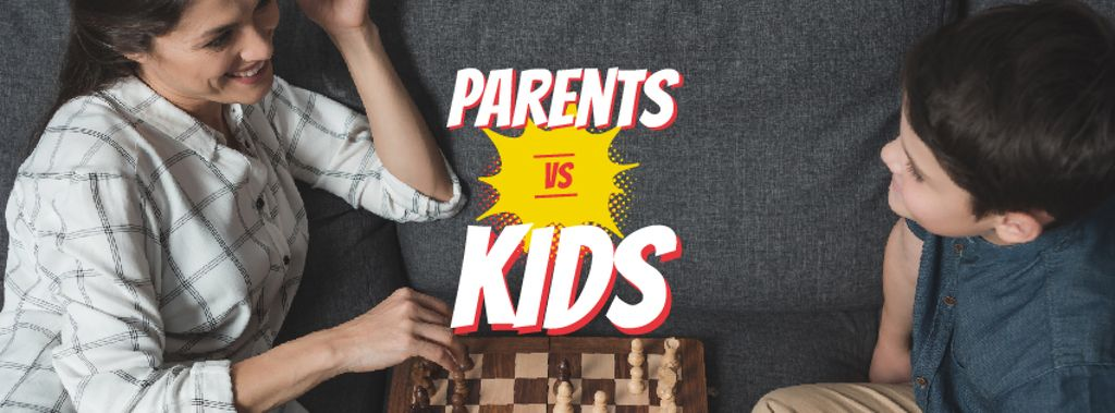 Mother and son playing chess — Create a Design