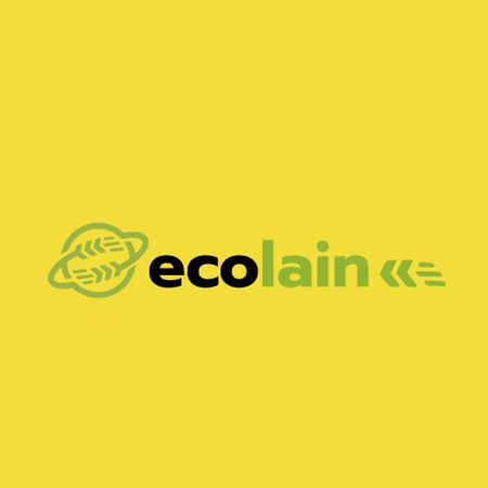 Eco Company Ad Earth with Ears Animated Logo Tasarım Şablonu