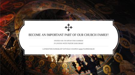 Plantilla de diseño de Church Invitation Old Cathedral View FB event cover