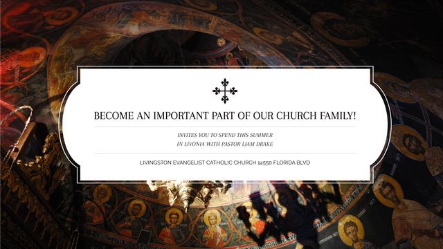 Plantilla de diseño de Church Invitation Old Cathedral View FB event cover