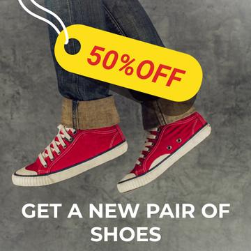 Running feet in red plimsolls